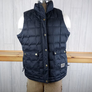 Cabela's Goose Down Black Quilted Puffer Vest